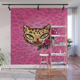 Leopard Kitty Tattoo Flash Wall Mural