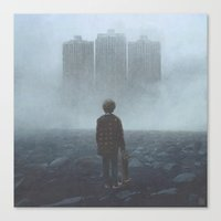 giants Canvas Prints featuring Boy and the Giants by yurishwedoff