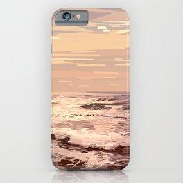 Sea waves at sunset #ocean #horizon #seascape iPhone Case