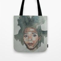 basquiat Tote Bags featuring Basquiat by Danielle Lima