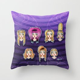 Wig in a Box Throw Pillow