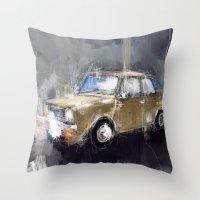 minion Throw Pillows featuring Minion by mystudio69