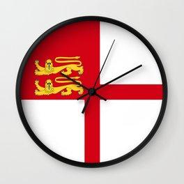 Bailiwick of Guernsey part sark island flag symbol Wall Clock