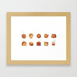 Salted caramel bear Framed Art Print
