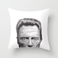 christopher walken Throw Pillows featuring Christopher by Rik Reimert