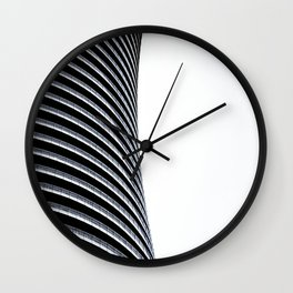 Abstract Architecture Curves Wall Clock