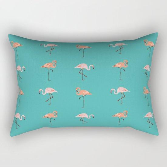 Flamingo Party Rectangular Pillow