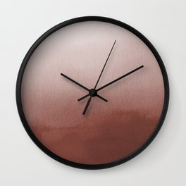 Dunn Edwards Spice of Life DET439 Abstract Watercolor Ombre Blend - Gradient Wall Clock