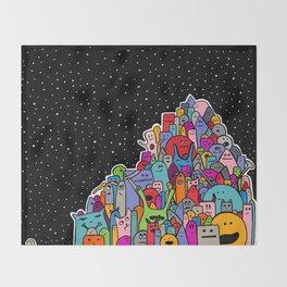 Pile of Monsters Throw Blanket