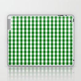 Christmas Green Gingham Check Laptop & iPad Skin