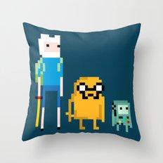 Adventure Pixel Time Throw Pillow