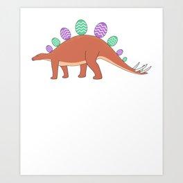 Happy Easter Dinosaur - Egg Stegosaurus Art Print