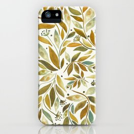 Leafy Brown iPhone Case