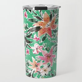 LILY ON VACAY Colorful Tropical Floral Travel Mug
