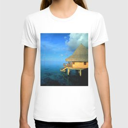 Over-the-Water Island Bungalow T-shirt