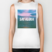 coconut wishes Biker Tanks featuring COCONUT PALM  by Samantheeyo