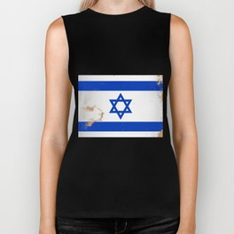 Israel Flag Grunge Biker Tank