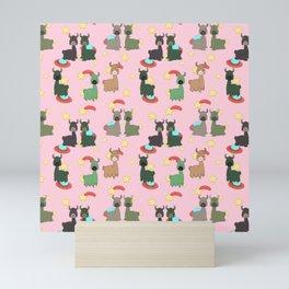 Space Llamas Mini Art Print