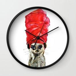 Red Turban Wall Clock