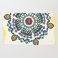 mandala Area & Throw Rugs featuring Mandala by famenxt