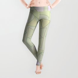 Tranquility and Triangles Geometric Abstract Leggings