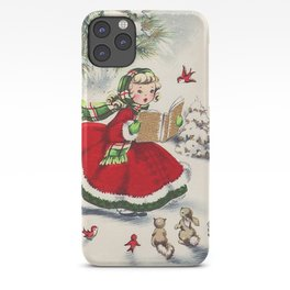 Vintage Christmas Girl iPhone Case