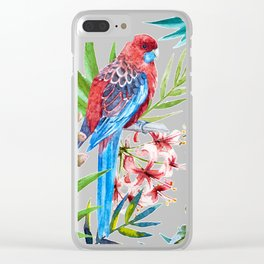 Tropical Bird Pattern 05 Clear iPhone Case