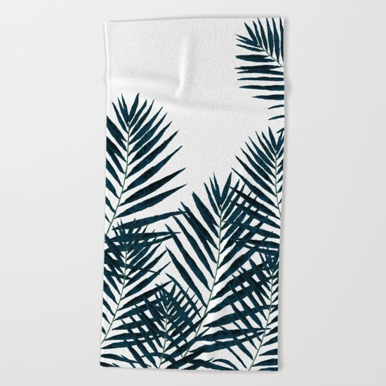 Fern Black Beach Towel