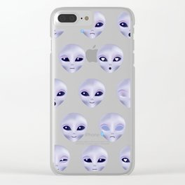 Alien Emotions Clear iPhone Case