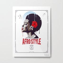 Afro Style I Metal Print