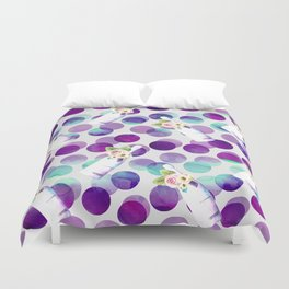 Champagne and polka dots Duvet Cover