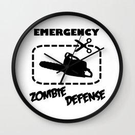 Zombe - Emergency Defense Chainsaw Wall Clock