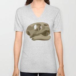 Turtle skull head Unisex V-Neck