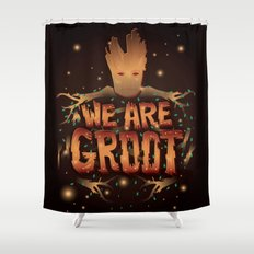 We Are Groot Shower Curtain
