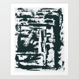 text cinza Art Print