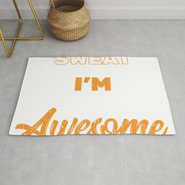 """Gym Leg Day Shirt """"That's Not Sweat I'm Leaking Awesome Sauce"""" T-shirt Design Dumbbell Fitness Rug"""