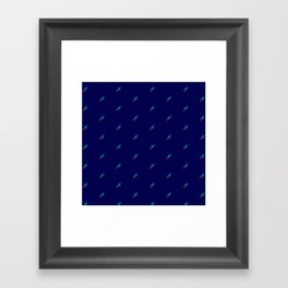 Meteor Shower Framed Art Print