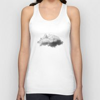 magritte Tank Tops featuring WAITING MAGRITTE by THE USUAL DESIGNERS