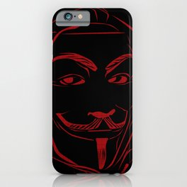 Anonymous Legion Line Art iPhone Case