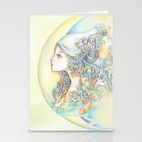 zodiac Stationery Cards featuring Zodiac - Aquarius by Hellobaby