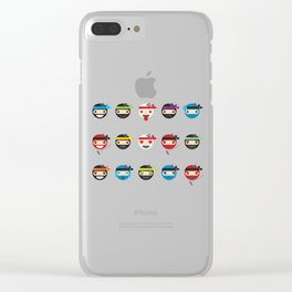 Ninja Toddlers Clear iPhone Case