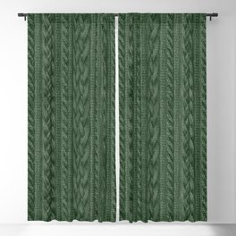 Pine Green Cable Knit Blackout Curtain