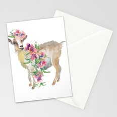 goat with flower crown Stationery Cards
