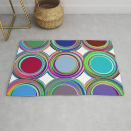 3x3 008 - paint cans Rug