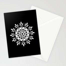 Snowflake Medallion B&W Stationery Cards