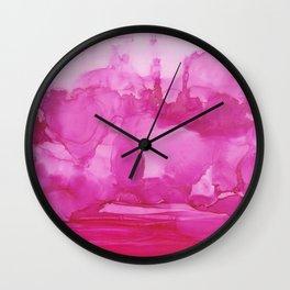 Ultra Pink Petals Wall Clock