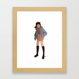 Miss October Framed Art Print