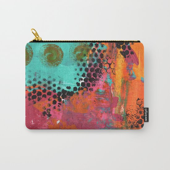 Original abstract painted artwork Carry-All Pouch