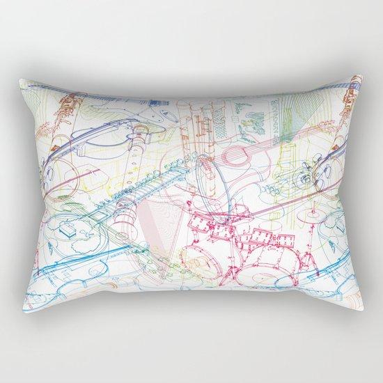 Music #1 Rectangular Pillow