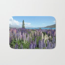 Colorful lupine towers Bath Mat